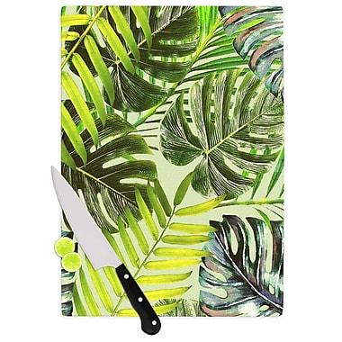 East Urban Home Alison Coxon Glass 'Jungle' Cutting Board; 0.25'' H x 11.5'' W x 8.25'' D