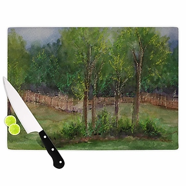 East Urban Home Cyndi Steen Glass 'a Storm at the Strand Travel' Cutting Board