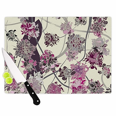 East Urban Home Angelo Cerantola Glass 'Springtime Again Floral' Cutting Board