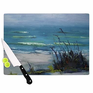East Urban Home Carol Schiff Glass 'Sanibel Painting' Cutting Board; 0.25'' H x 11.5'' W x 8.25'' D