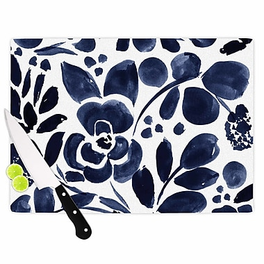 East Urban Home Crystal Walen Glass 'Watercolor Floral Painting' Cutting Board