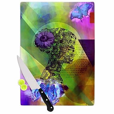 East Urban Home alyZen Moonshadow Glass 'Silhouette' Cutting Board; 0.25'' H x 15.75'' W x 11.5'' D