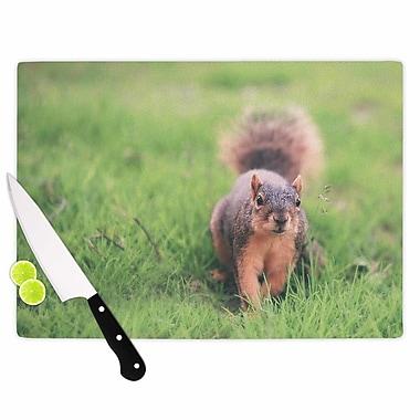 East Urban Home Angie Turner Glass 'Squirrel Animals' Cutting Board; 0.25'' H x 15.75'' W x 11.5'' D