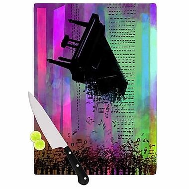 East Urban Home alyZen Moonshadow Glass 'a Grand Deluge Music' Cutting Board