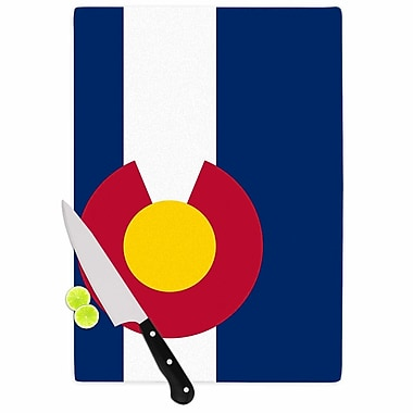 East Urban Home Bruce Stanfield Glass 'Flag of Colorado II' Cutting Board