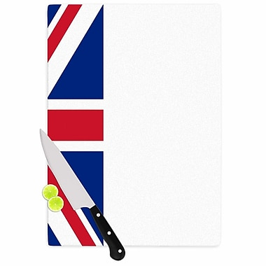 East Urban Home Bruce Stanfield Glass 'Classic Union Jack' Cutting Board