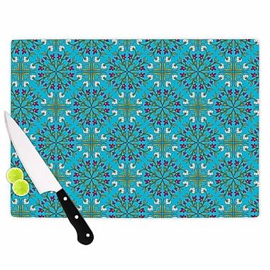East Urban Home Mayacoa Studio Glass 'Morrocan Tile in Geometric Floral' Cutting Board