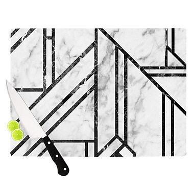 East Urban Home Glass 'Marble Mosaic Geometric Modern' Cutting Board; 0.25'' H x 11.5'' W x 8.25'' D