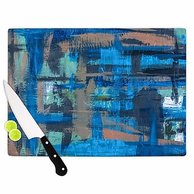 East Urban Home Bruce Stanfield Glass 'Hyper Painting' Cutting Board; 0.25'' H x 11.5'' W x 8.25'' D