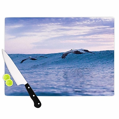 East Urban Home Colin Pierce Glass 'Sky Surfers Photography' Cutting Board