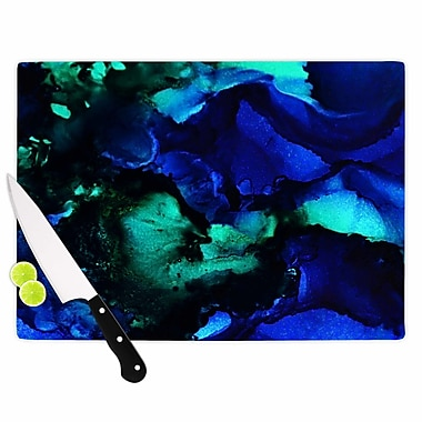 East Urban Home Claire Day Glass 'Neptune Painting' Cutting Board; 0.25'' H x 15.75'' W x 11.5'' D