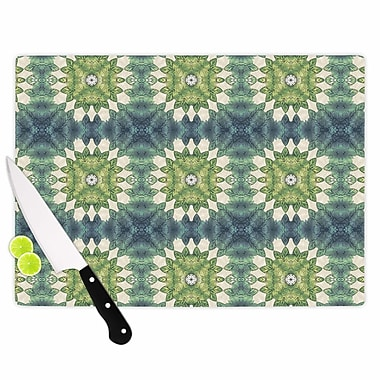 East Urban Home Art Love Passion Glass 'Forest Leaves Pattern Geometric' Cutting Board