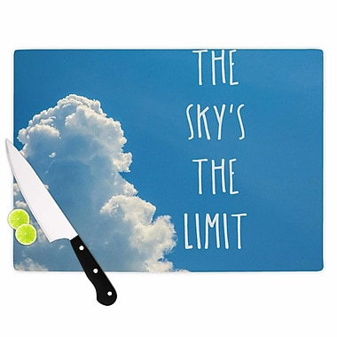 East Urban Home Bruce Stanfield Glass 'The Sky's the Limit Square Typography' Cutting Board