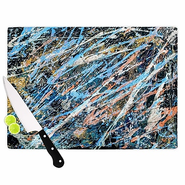 East Urban Home Bruce Stanfield Glass 'Cobalt One Abstract' Cutting Board