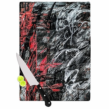 East Urban Home Bruce Stanfield Glass 'Areus Abstract' Cutting Board; 0.25'' H x 11.5'' W x 8.25'' D