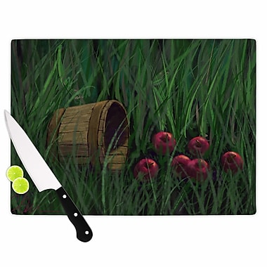 East Urban Home Cyndi Steen Glass 'Today's Therapy' Cutting Board; 0.25'' H x 15.75'' W x 11.5'' D