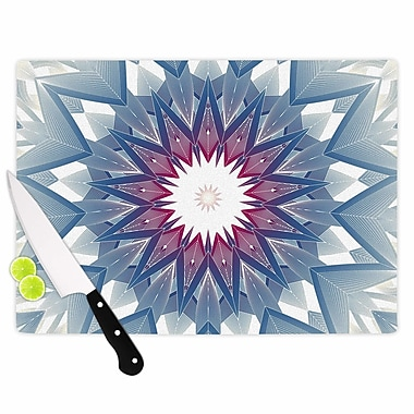 East Urban Home Angelo Cerantola Glass 'Starburst Digital' Cutting Board