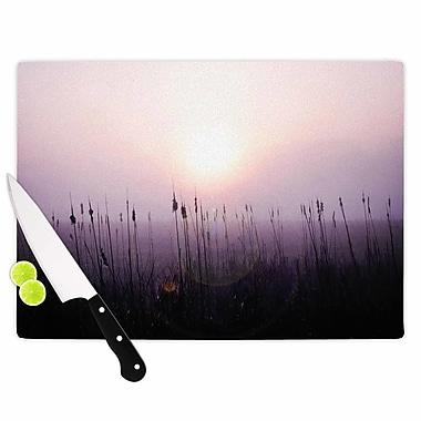 East Urban Home Angie Turner Glass 'Sunrise Cattails' Cutting Board; 0.25'' H x 11.5'' W x 8.25'' D
