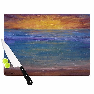 East Urban Home Cyndi Steen Glass 'Sky on Fire' Cutting Board; 0.25'' H x 15.75'' W x 11.5'' D