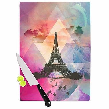 East Urban Home alyZen Moonshadow Glass 'Eiffel Tower France' Cutting Board