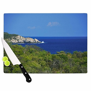 East Urban Home Nick Nareshni Glass 'Forest To the Ocean Photography' Cutting Board