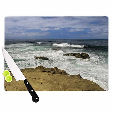 East Urban Home Nick Nareshni Glass 'Exposed Above Water Sandstone Photography' Cutting Board
