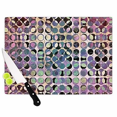 East Urban Home Pia Schneider Glass 'Melange of Circles III' Cutting Board