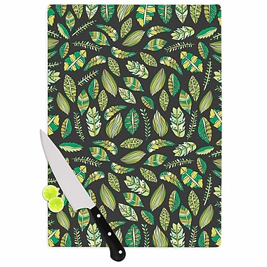 East Urban Home Pom Graphic Design Glass 'Tropical Botanicals 2' Cutting Board