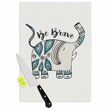 East Urban Home Pom Graphic Design Glass 'Be Brave Typography' Cutting Board
