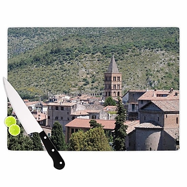 East Urban Home Nick Nareshni Glass 'Florence Architecture Travel Photography' Cutting Board