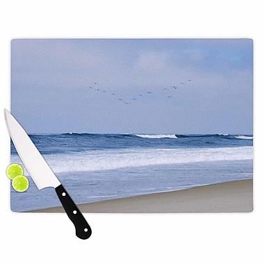 East Urban Home Nick Nareshni Glass 'Seagulls on the Beach' Cutting Board