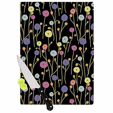 East Urban Home Laura Nicholson Glass 'Ranunculas on Floral' Cutting Board