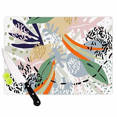 East Urban Home Glass 'Abstract Marine Shapes Illustration' Cutting Board
