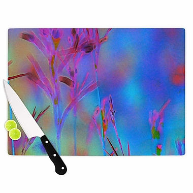 East Urban Home Malia Shields Glass 'Painterly Foliage Series 2' Cutting Board