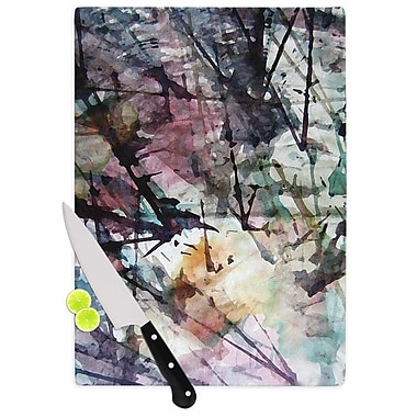 East Urban Home Malia Shields Glass 'Abstract Trees Abstract Painting' Cutting Board
