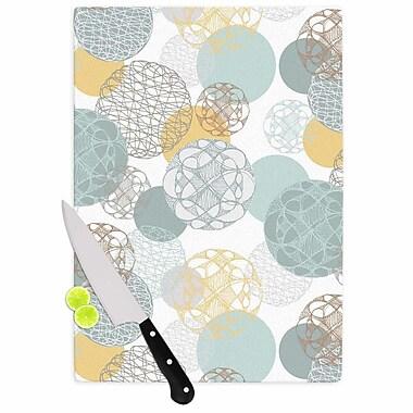 East Urban Home Maike Thoma Glass 'Floating Circles Design' Cutting Board