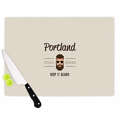 East Urban Home Juan Paolo Glass 'Original Hipster Typography' Cutting Board