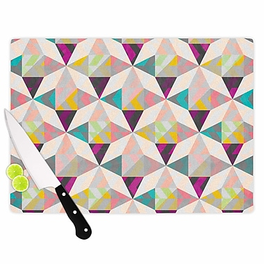 East Urban Home Louise Machado Glass 'True Diamonds' Cutting Board; 0.25'' H x 15.75'' W x 11.5'' D
