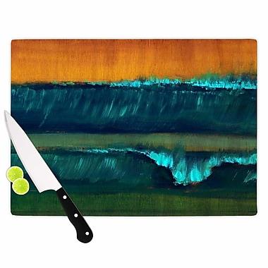 East Urban Home Nathan Gibbs Glass 'Leaf Tea' Cutting Board; 0.25'' H x 11.5'' W x 8.25'' D