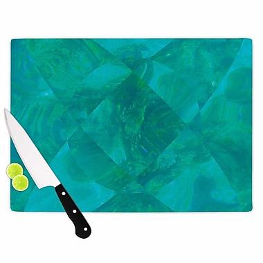 East Urban Home Matt Eklund Glass 'Under the Sea' Cutting Board; 0.25'' H x 11.5'' W x 8.25'' D