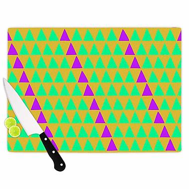 East Urban Home Matt Eklund Glass 'Fiesta' Cutting Board; 0.25'' H x 11.5'' W x 8.25'' D