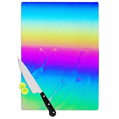 East Urban Home Liz Perez Glass 'Indigo Soul Digital' Cutting Board; 0.25'' H x 11.5'' W x 8.25'' D