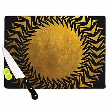 East Urban Home Matt Eklund Glass 'Gilded Chaos Geometric' Cutting Board