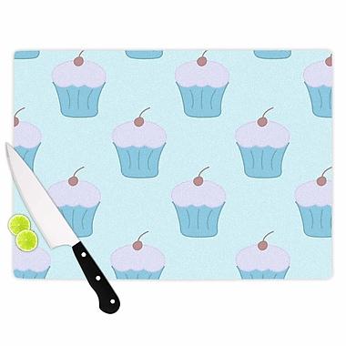 East Urban Home NL Designs Glass 'Cupcakes Food' Cutting Board; 0.25'' H x 15.75'' W x 11.5'' D
