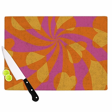 East Urban Home Nacho Filella Glass 'Heart Explosion Pop Art' Cutting Board