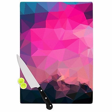 East Urban Home Oriana Cordero Glass 'Poly Sunrise' Cutting Board; 0.25'' H x 15.75'' W x 11.5'' D