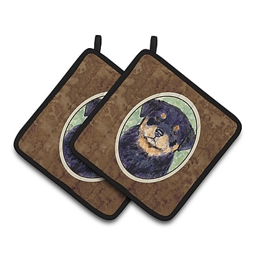 East Urban Home Rottweiler Portrait Potholder (Set of 2)