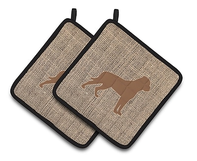 East Urban Home Rottweiler Potholder (Set of 2); Brown