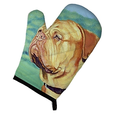 East Urban Home Patterned Dog on Green Background Oven Mitt