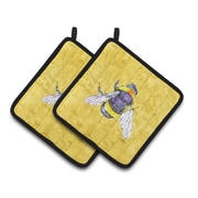 East Urban Home Bee Potholder (Set of 2)